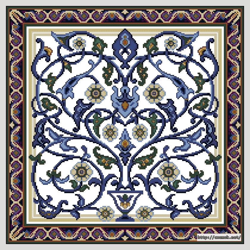 Синий узор200x200 крестов15