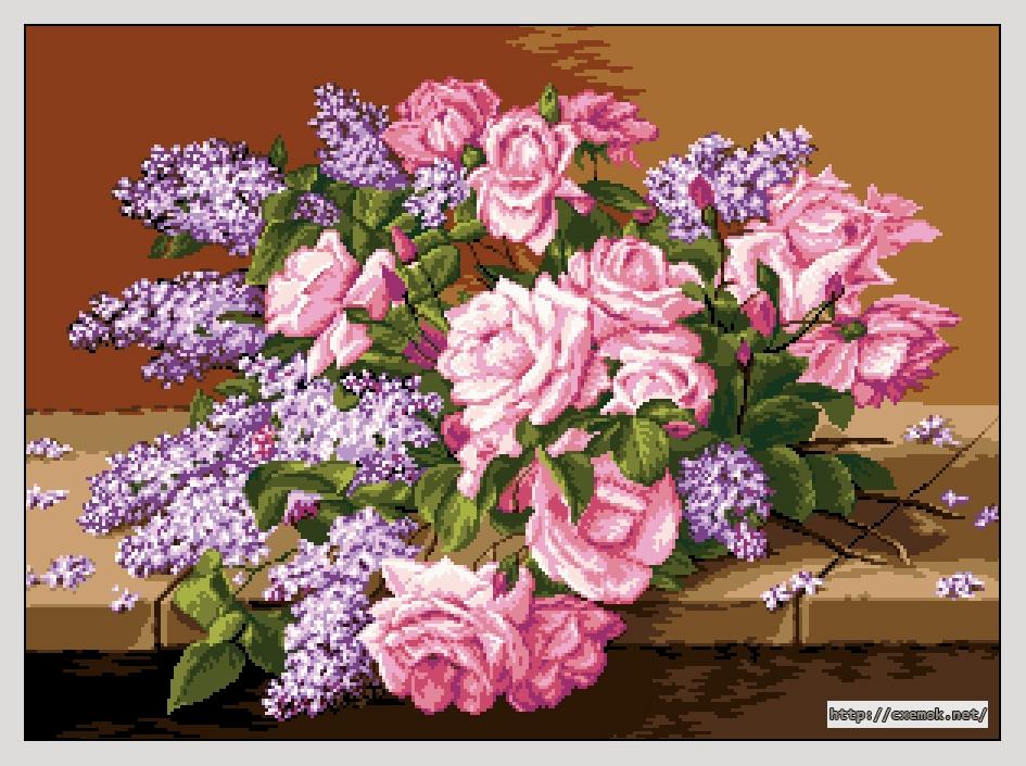 Сирень и розы300x220 крестов22