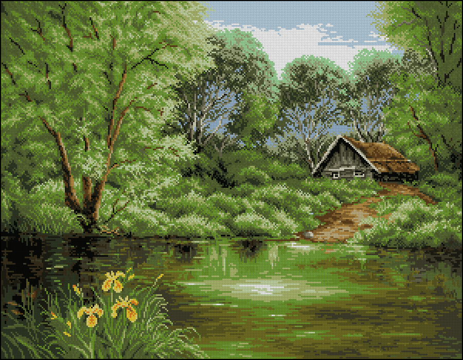 Дом у реки300x230 крестов30