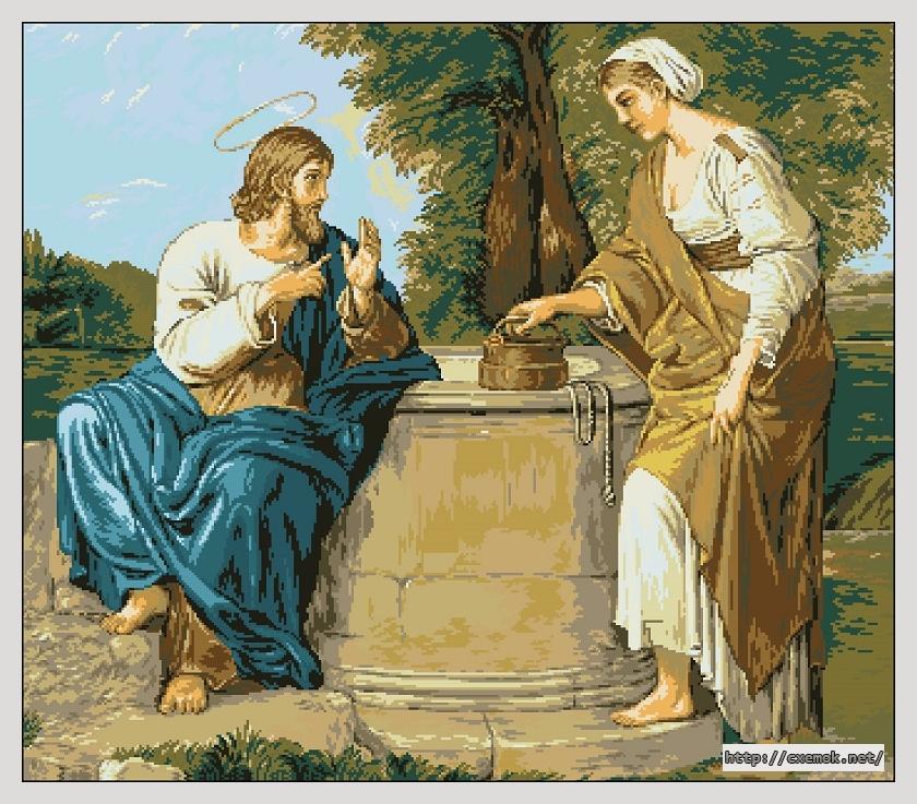 Cхемы схема вышивки Иисус
