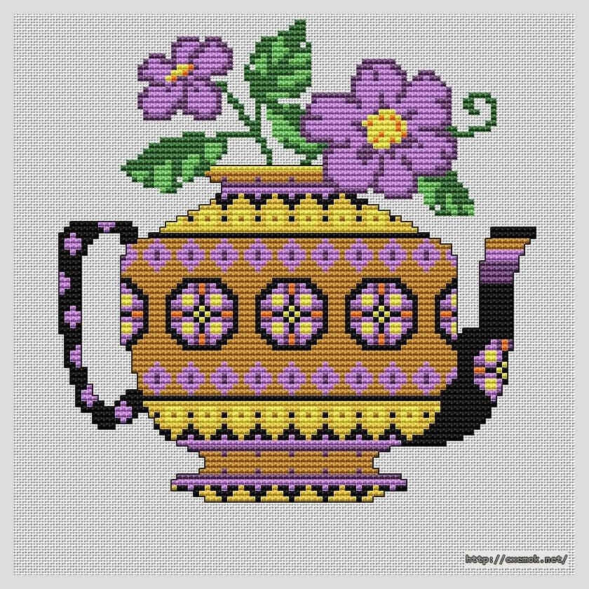 Yellow teapot100x100 крестов9