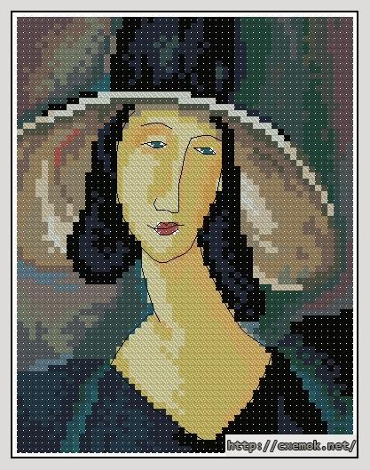 Портрет женщины в шляпе56x72