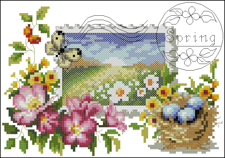 Spring stamp105x72 крестов41