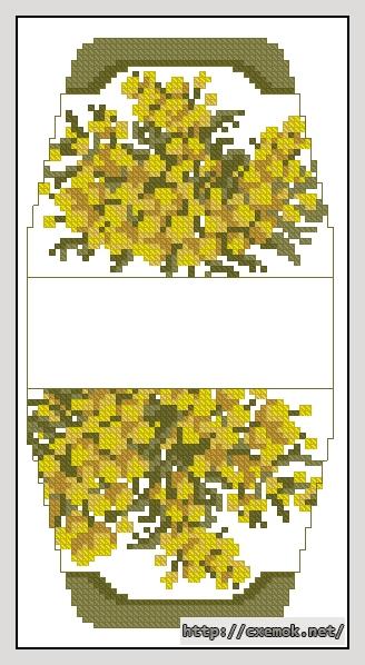 Мимоза55x106 крестов5 цветов .