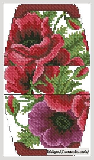 Маки60x106 крестов15 цветов