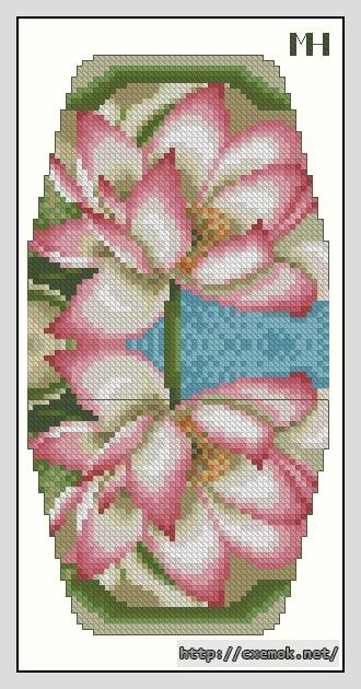 Лотос55x110 крестов23 цветов