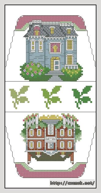 Домики60x106 крестов21 цветов