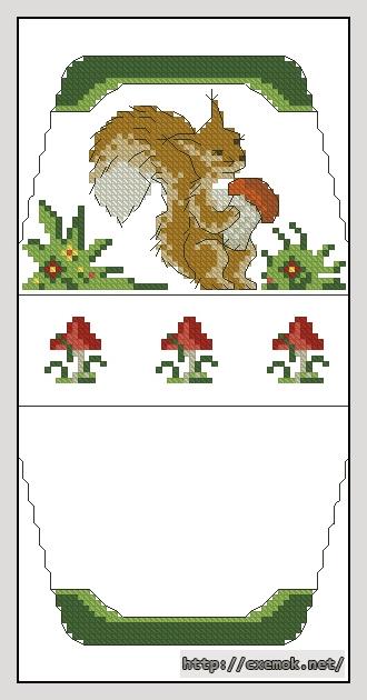 Белочка с грибом60x106
