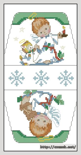 Рождественские ангелочки60x106