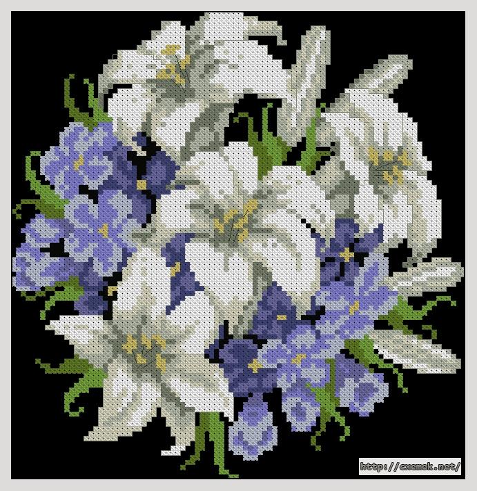 Лилии94x97 крестов13 цветов