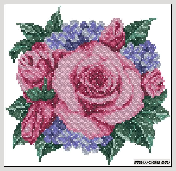 Cхемы вышивка крестом розы
