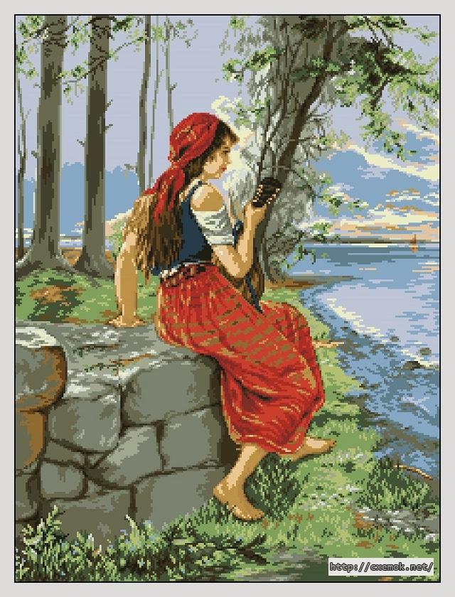 Девушка с мандолиной225x300