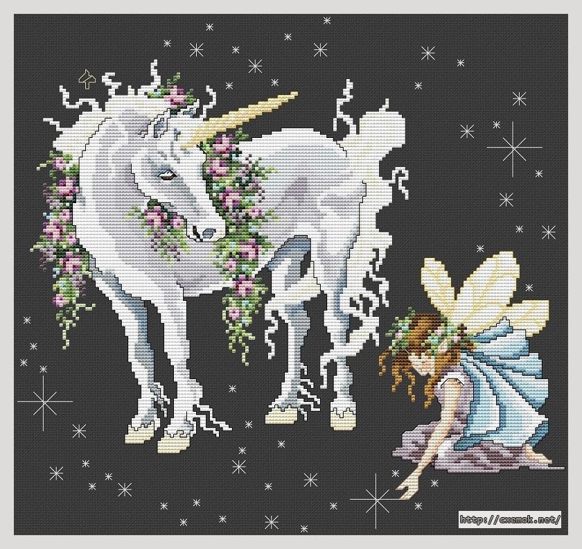 """Сачать схему вышивки """"Unicorn"""