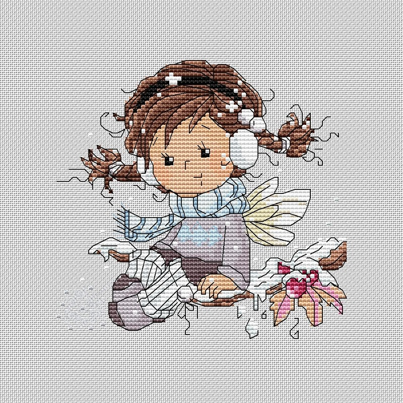 Winter fairy100x100 крестов22