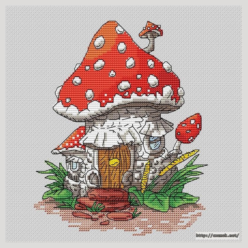 Скачать схемы вышивки грибы