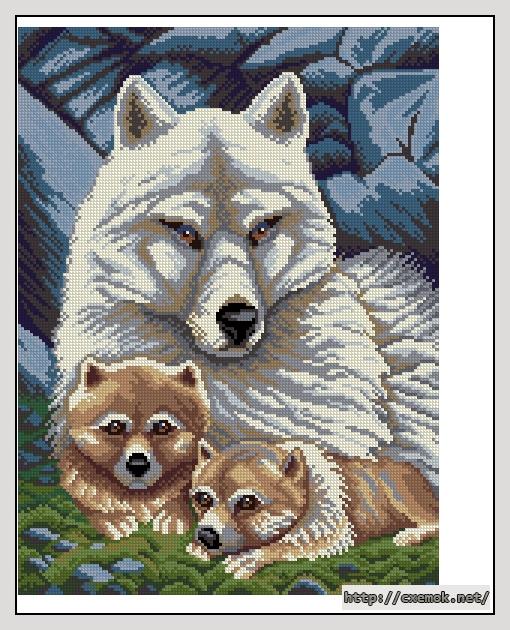 Волки140x189 крестов27 цветов