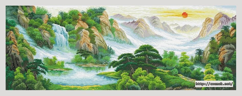 Пейзаж561x206 крестов76 цветов
