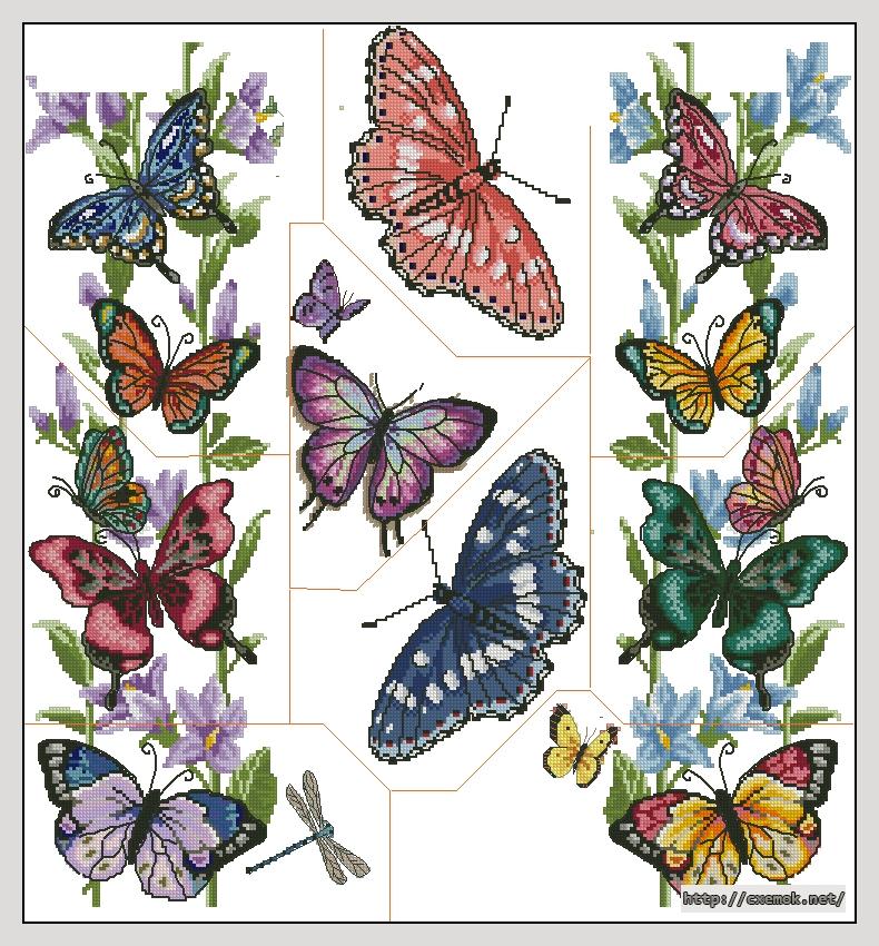 Мозаика с бабочками250x270