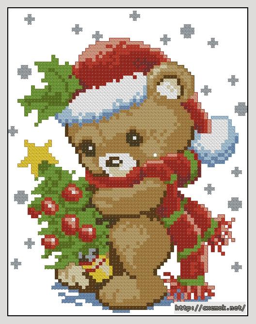 Рождественский медвежонок71x91
