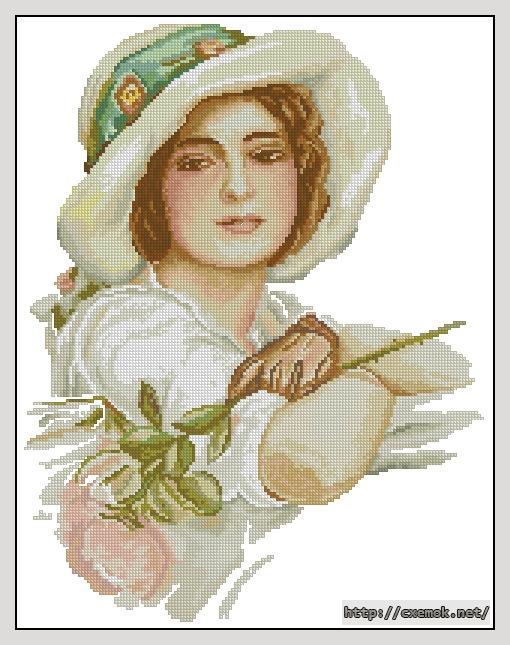 Девушка с розой153x199