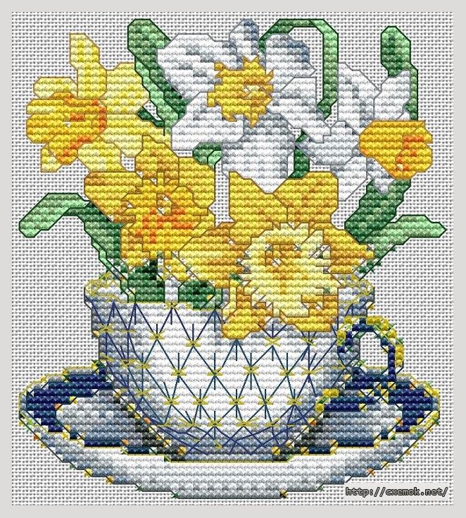 March-daffodils61x68 крестов25