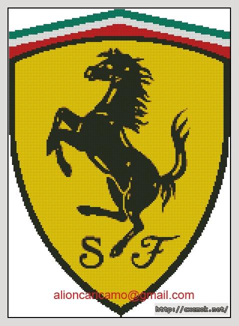 Ferrari147x205 крестов6 цветов