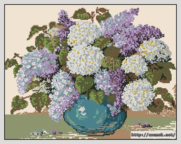 Сирень в голубой вазе190x147