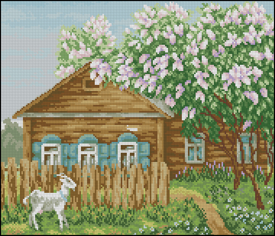 Деревенский пейзаж180x153