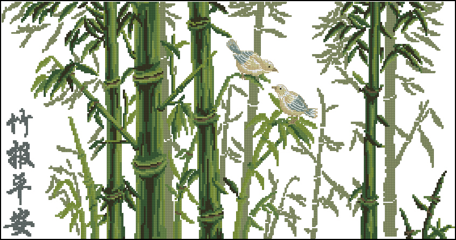 Bamboo280x140 крестов15 цветов