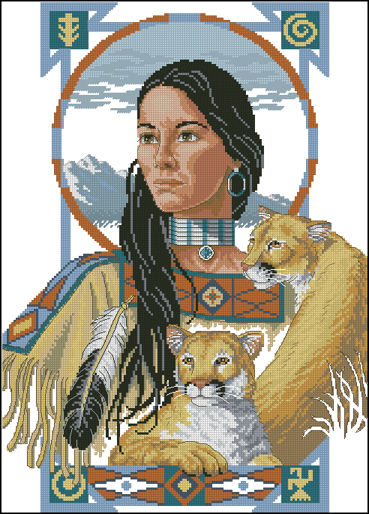 Вышивка с индейской тематикой