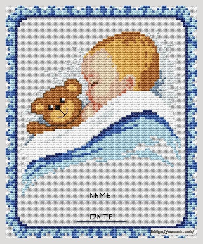 Метрика для мальчика81x98