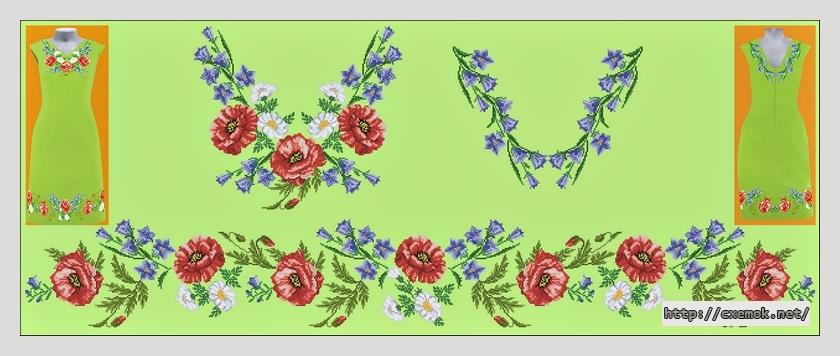 Платье637x243 крестов24 цветов .