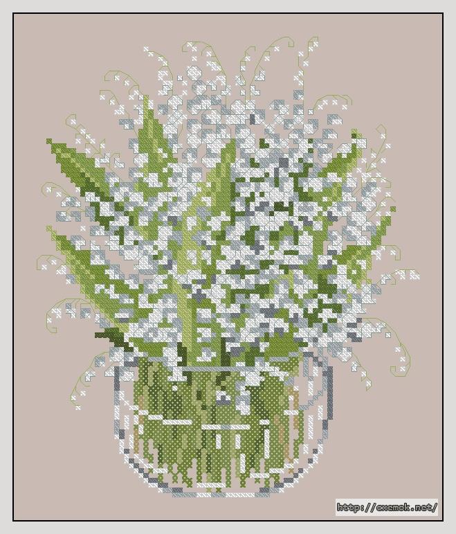 Ландыши79x95 крестов14 цветов