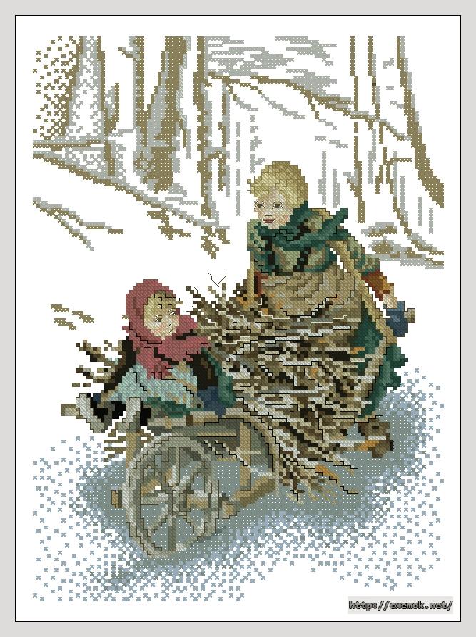 """Сачать схему вышивки """"Winter"""