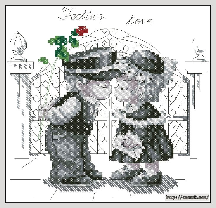 схема вышивки feeling love