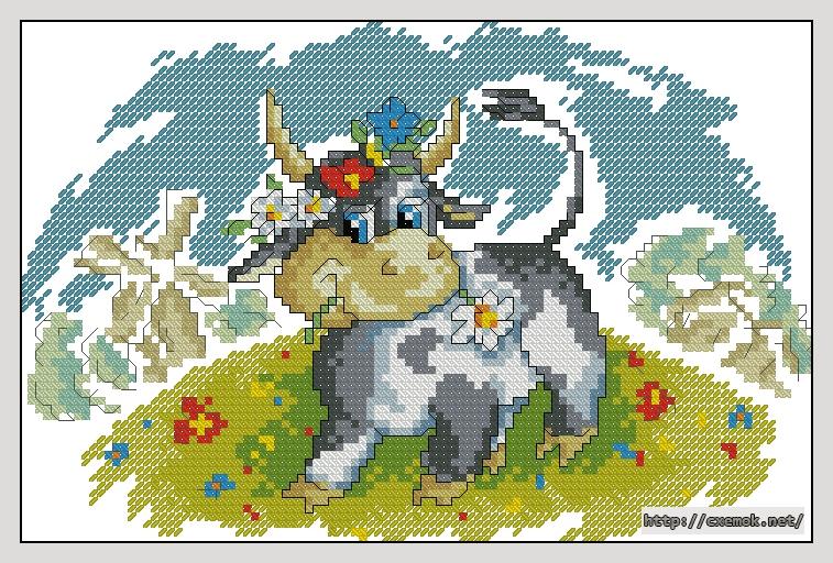 Корова на лугу103x68 крестов21