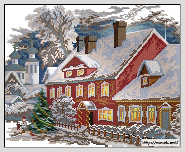 Рождество175x142 крестов17