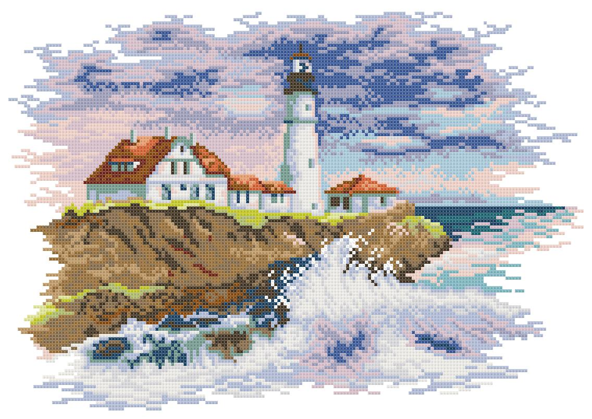 Схема вышивки маяк вид из окна 42