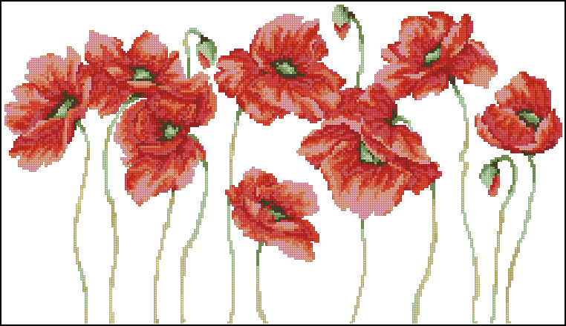 Маки250x138 крестов18 цветов .