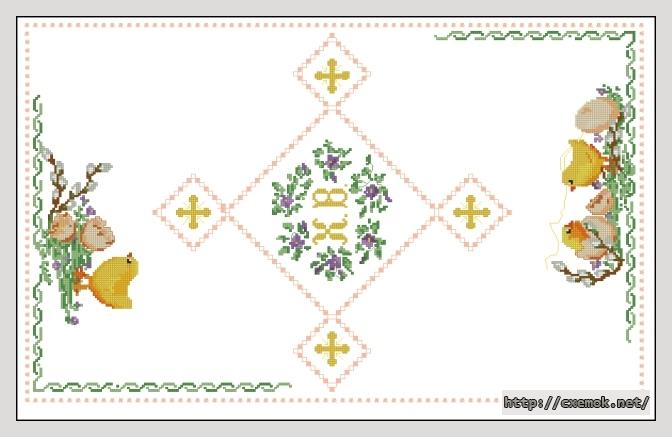 Серветки схема вишивка
