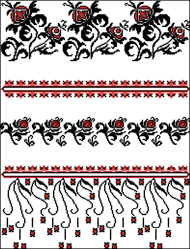 Рушник197x262 крестов2 цветов .