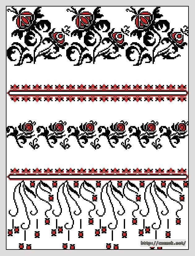 Вышивки Крестом Схему Рушник