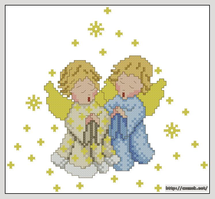 Cхемы ангелы вышивка крестом
