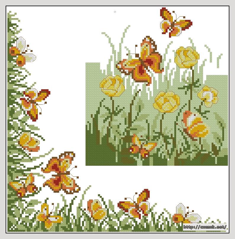 Бабочки124x126 крестов11
