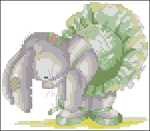 Ballerina bunny73x63 крестов13