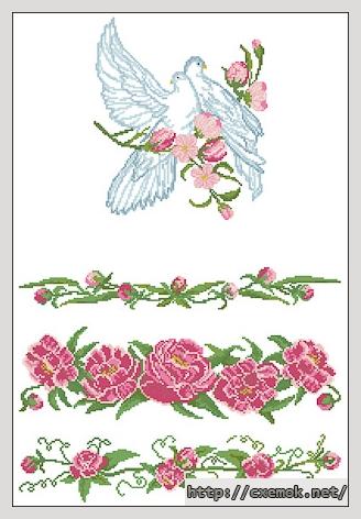 Рушник с голубями189x285