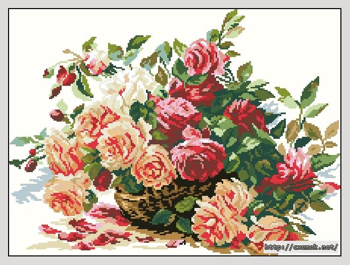 Розы220x164 крестов26 цветов