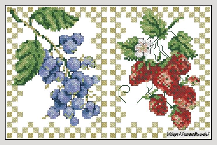 Ягоды116x75 крестов18 цветов