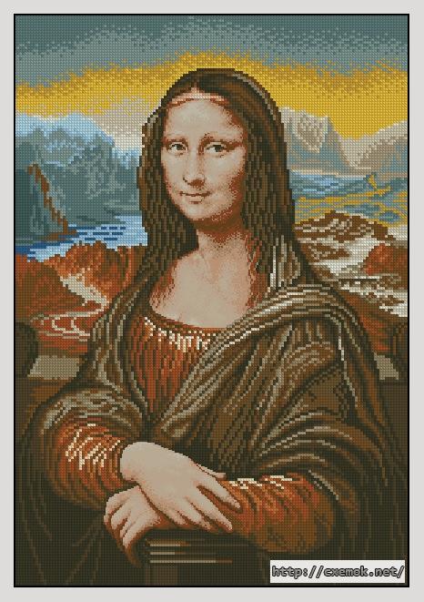 Mona lisa145x210 крестов27