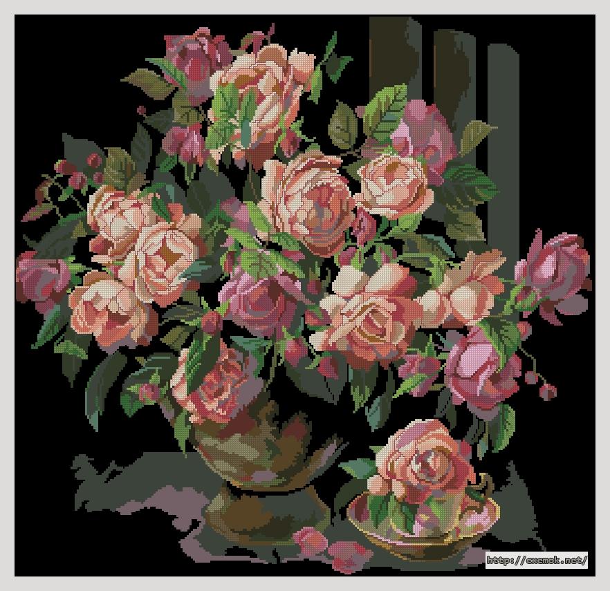 Classic roses278x269 крестов35
